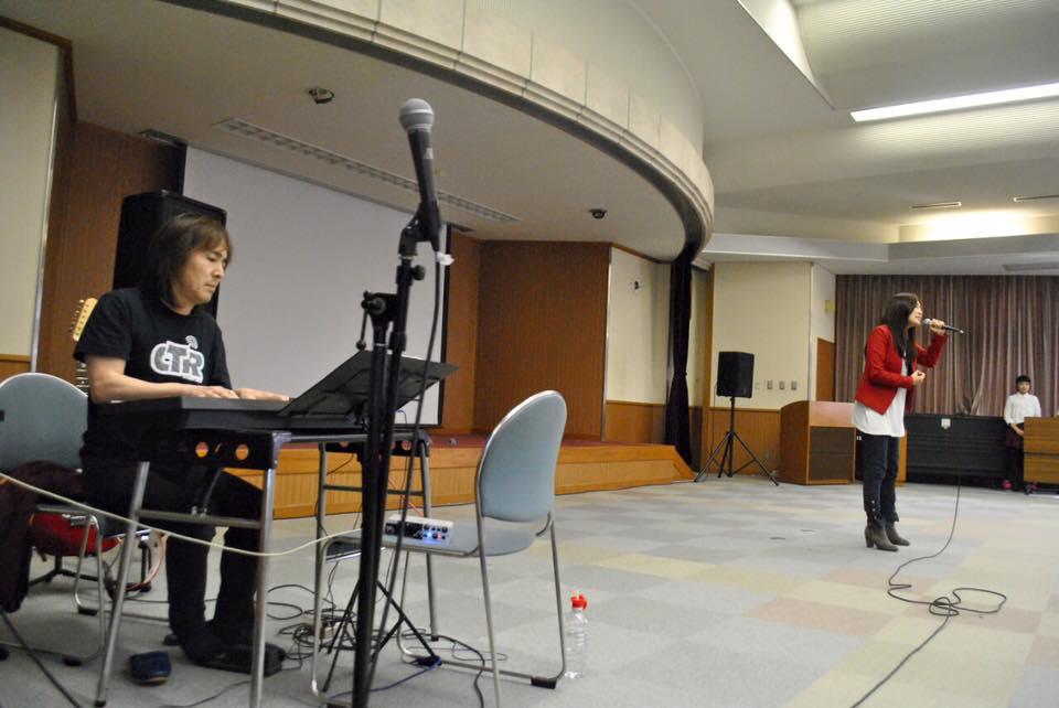 千里 岡山商科大学附属高校イベント 本間敏之さんとコラボステージ